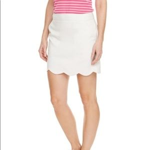 Vineyard Vines Scalloped Beige Golf Skort Skirt
